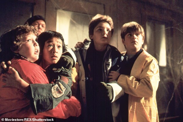 A 1985 film, The Goonies (photo), comes with a warning on Sky Cinema