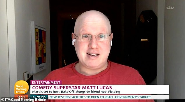 New faces: Matt Lucas will take over from Sandi Toksvig in the tent