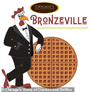 A spokesman for Amazon said that the food was being ordered from one of the workers, favorite restaurants, Chicago's Home of Chicken and Waffles (on the photo)