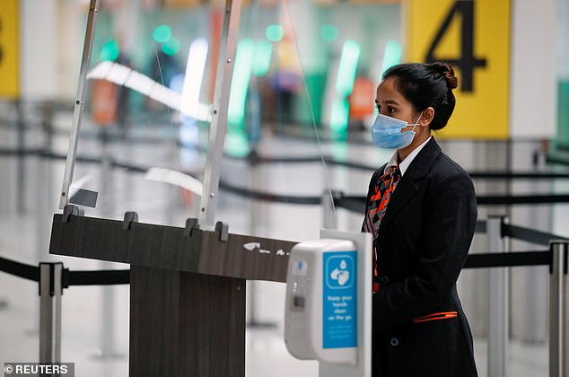 All the plans depend on reducing the risk of a second wave sense of the quarantine could remain in place for the next few months. On the photo: the Staff of Gatwick Airport