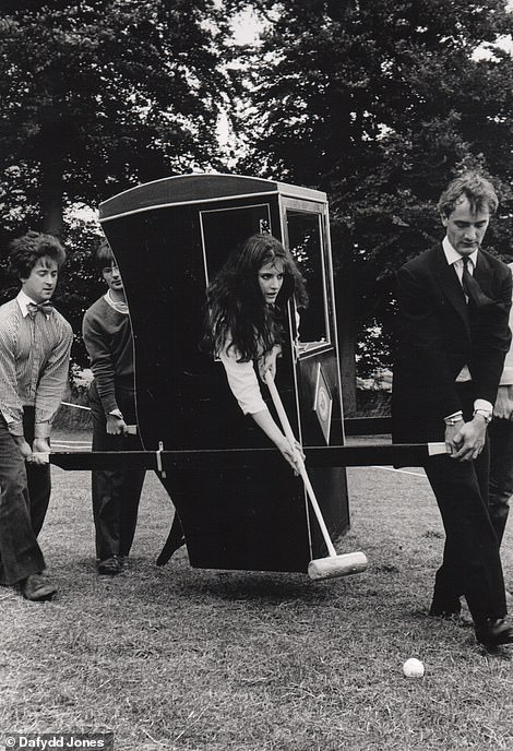 Sporting goddess: Nigella Lawson plays unconventional croquet at a Dangerous Sports club party in 1981