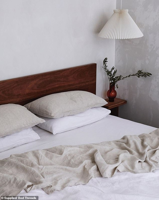 You need to get rid of both physical and mental clutter in your bedroom if you want a truly detoxed space (pictured)