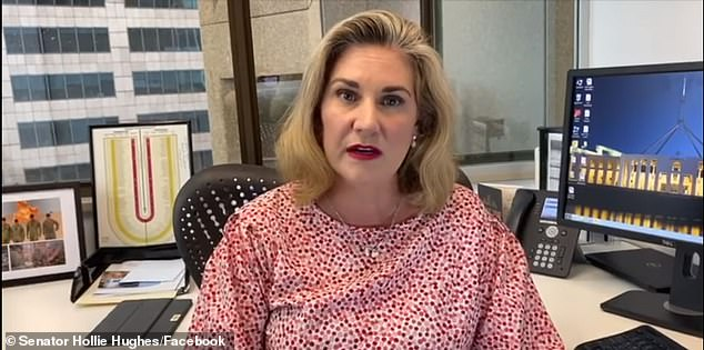 Liberal NSW Senator Hollie Hughes responds to anti-vaxxer letters in a Facebook video posted on April 30. Since then, Ms Hughes has been inundated with vile messages and comments