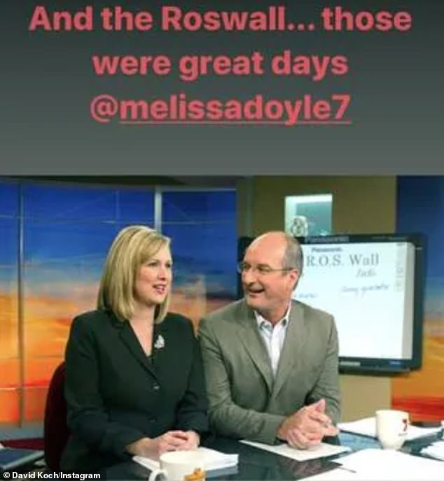 Cryptic: With the benefit of hindsight,the mysterious tribute suggests that Kochie may have known Melissa's days at the network were numbered