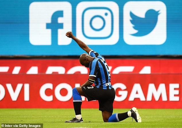 Romelu Lukaku celebrated by taking the knee as Inter Milan beat Sampdoria on Sunday