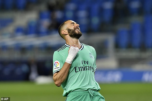 Karim Benzema's goal was given following a VAR review as Real made it 2-0 in the 70th minute