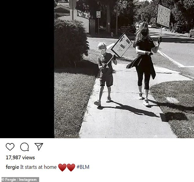 Activist mom:Fergie is mom to son Axl Jack, whom she shares with her ex-husband Josh Duhamel; seen recently on Instagram