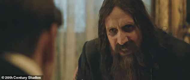 Rasputin: The mystery unseen villain tells his cohorts that, 'it's time to pour fuel on the fire of revolution, while the Duke meets the nefarious Rasputin (Rhys Ifans)