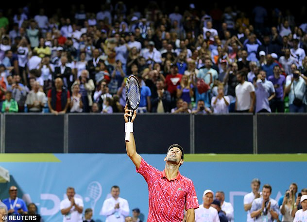Djokovic has previously been forced to dismiss criticism of the crowds that have attended