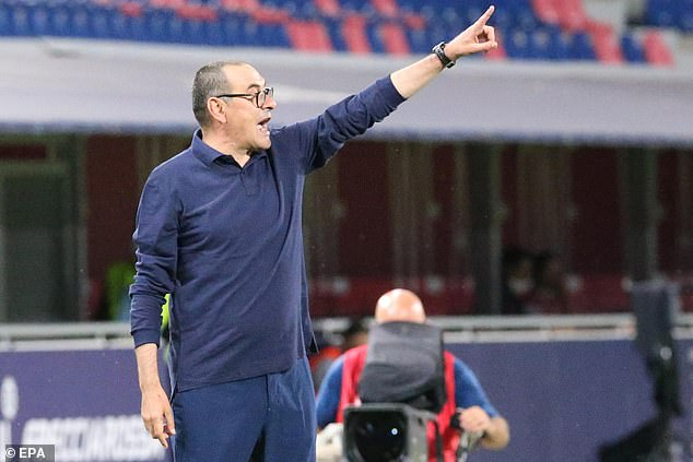Sarri's players remain top by four points with second-place Lazio having a game in-hand