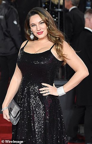 Pin-up: Kelly revealed she didn't feel healthy or beautiful at her curviest, after 'creeping up' to a size 16 in 2017