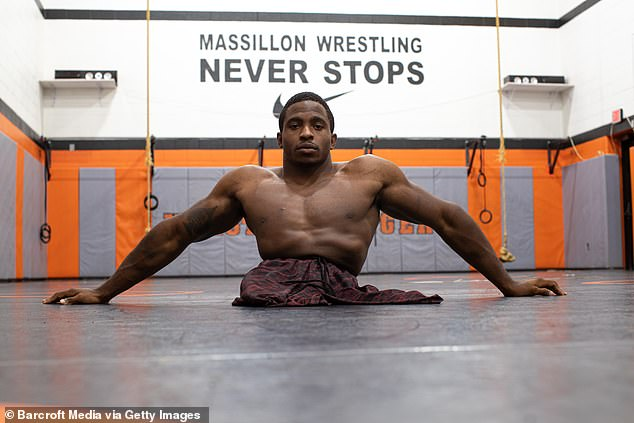 A machine. Zion trains twice a day, six days a week, and said wrestling was a lifestyle that came with an intense grind