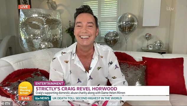 An hour later: On ITV's Loose Women, Craig Revel Horwood appeared to confirm that Strictly Come Dancing will indeed be going ahead in 2020