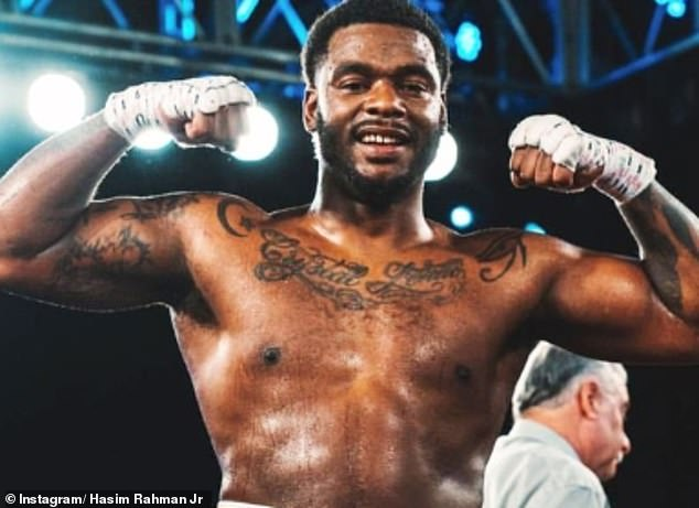 Hasim Rahman Jr is a heavyweight boxer like his dad but hasn't fought at a very high level yet