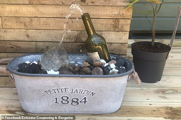 Andrea Redfearn, from Manchester, unveiled her playful water feature online, amazing social media users with the clever design, which her husband built in just 10 minutes