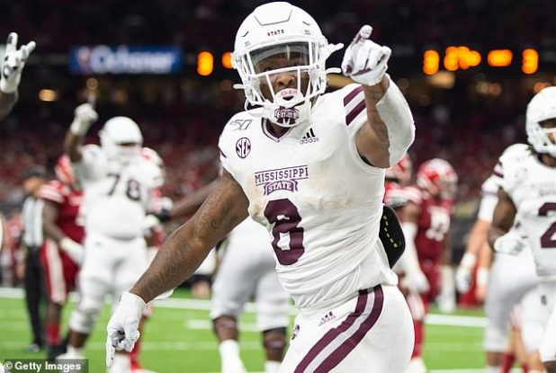 Mississippi state Kylin Hill was the SEC's third leading running back during the 2019 season