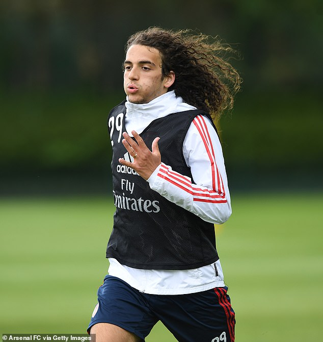 When you look in the back of the training sequences, it is requested Guendouzi was acting up and does not