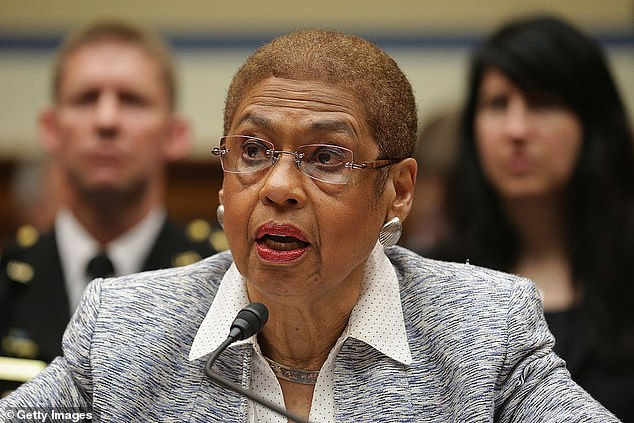 Congresswoman Elenor Holmes Norton said she would introduce a bill to have it removed