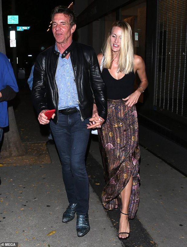 Beginning of their love: Dennis and Laura, a PhD student, met at a business event and started dating in May 2019;  Pictured leaving Craig's restaurant on May 14, 2019 in West Hollywood.