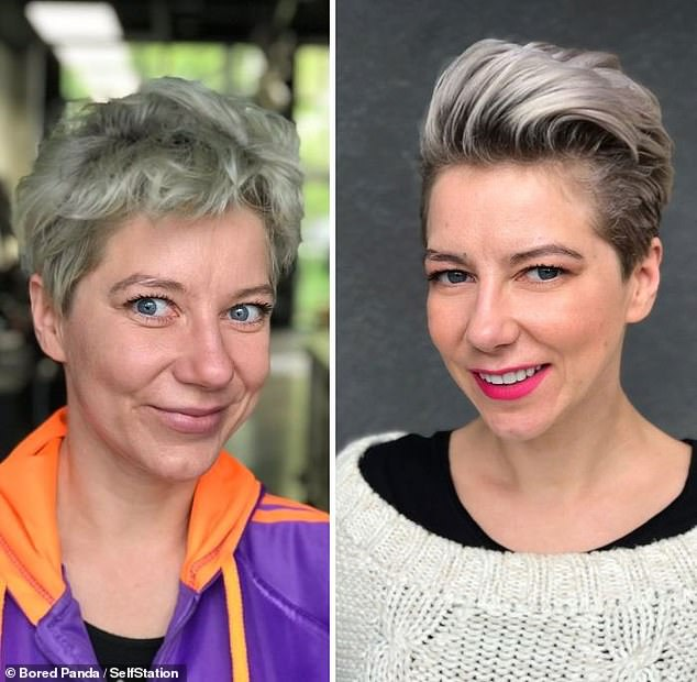 Making people happy and helping woman connect with their feminity is at the core of what Jurgita does. This woman's new style and highlights give her a younger, more edgy look