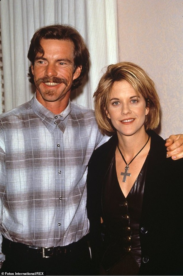 As they were: He said I do it again on February 14, 1991 to actress Meg Ryan after they fell in love filming DOA, their second movie together;  photographed in 1996