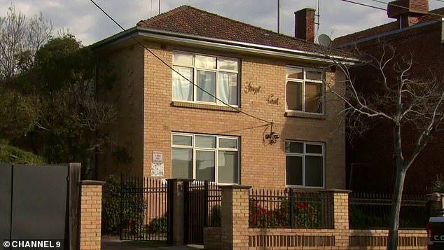 Katrina Grundy, 49, has been squatting rent-free in her father Peter's Melbourne apartment (pictured) for eight years