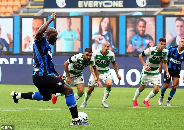Romelu Lukaku's penalty on the stroke of half-time had given Inter a 2-1 lead at the break
