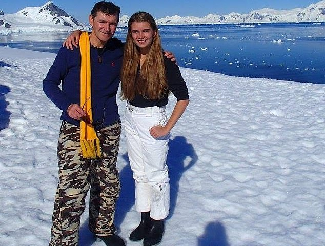 Ms Ferry (pictured with her dad) had been studying engineering at the University of New South Wales after graduating fromQueenwood School for Girls in Mosman. She visited Antarctica with her fatherlast year