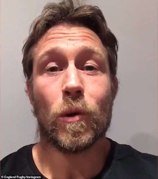 Prince Harry featured in the video alongside several sporting stars - including former English rugby player Jonny Wilkinson (above) and Australian rugby coach Eddie Jones - to thank sporting fans for their efforts during the pandemic