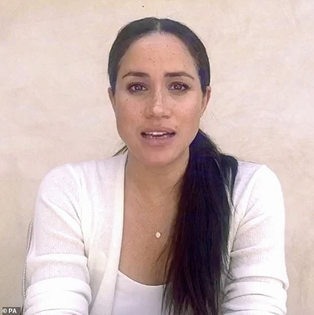 Ssources revealed that the Duchess of Sussex feels 'destined' to help fight systemic racism in the United States (pictured, the royal recently spoke out about Black Lives Matter)