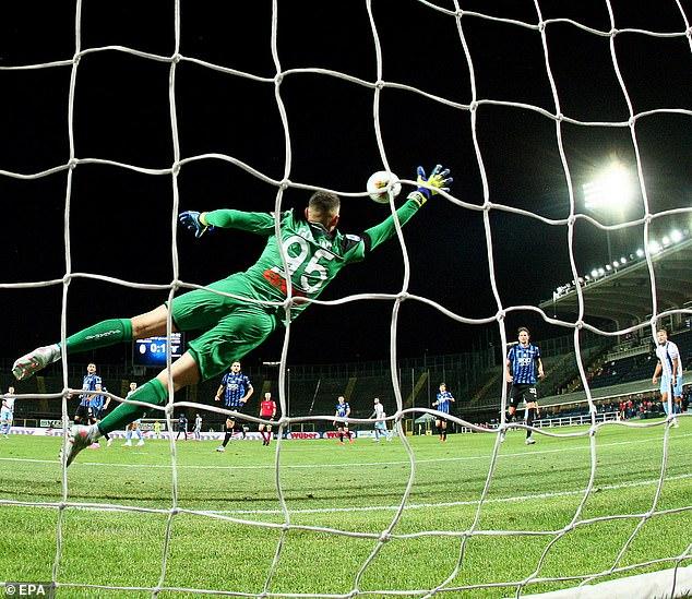 Goalkeeper Pierluigi Gollini endures an opening 11 minutes to forget as Atalanta go 2-0 behind
