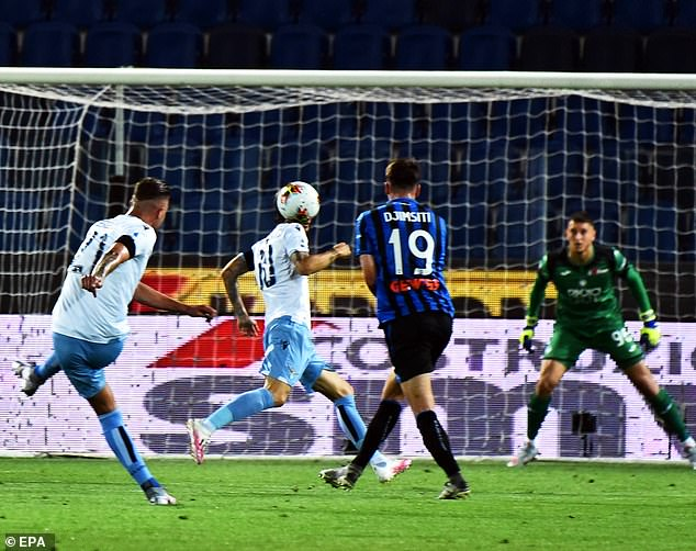 Sergej Milinkovic-Savic scores a stunner for the second as title chasers Lazio race into the lead