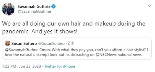 Reminder: Savannah noted that she and her castmates were forced to do their hair and makeup amid the coronavirus pandemic.
