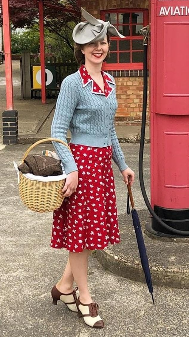 Retro chic: in one of her vintage outfits