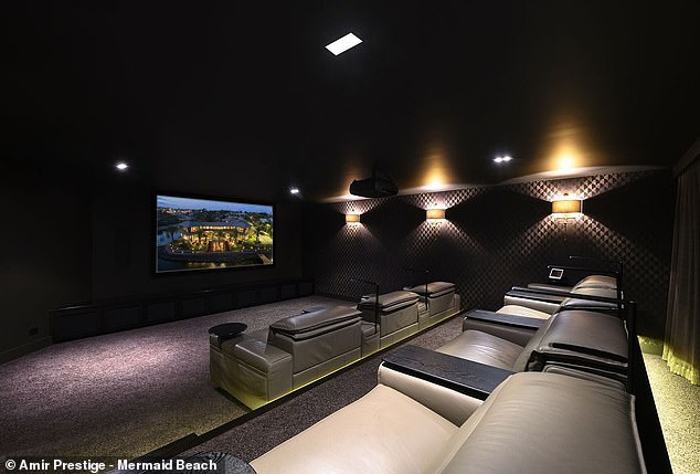 The seven-seat basement movie theatre, perfect for winter movie nights with family and friends