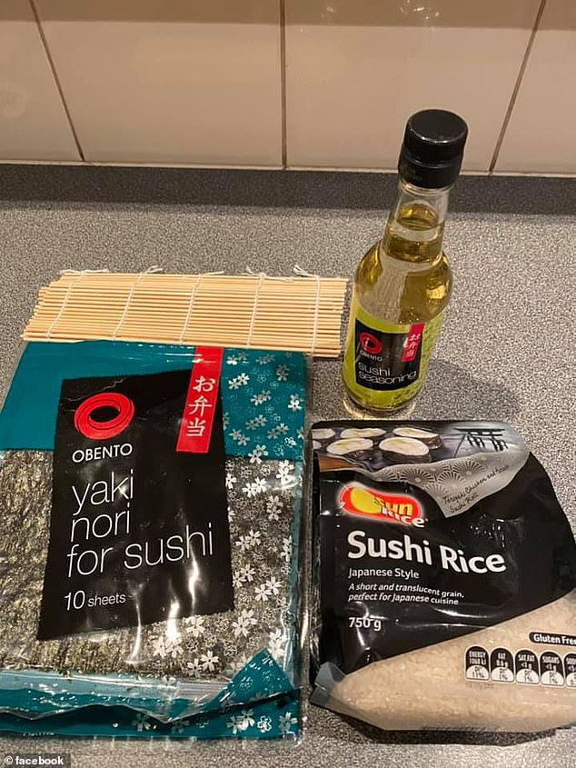 Suzanne said she learnt to make sushi herself with a DIY kit but now purchases the ingredients separately