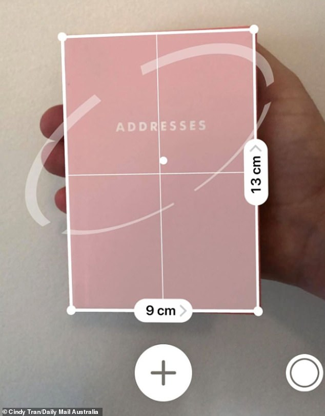 The Measure app uses augmented reality to act as a tape measure or ruler, as pictured