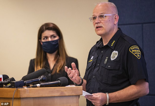 Tucson Police Chief Chris Magnus made the offer during a press conference Wednesday where he released disturbing bodycam footage showing Carlos Ingram-Lopez's 'horrible' death while being detained by three cops back on April 21