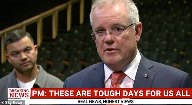 Why is he there? Viewers criticised Guy Sebastian for attending Scott Morrison's arts funding announcement on Thursday