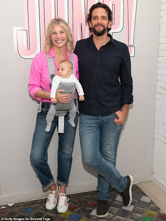Dedicated couple: Kloots and Cordero were married in September 2017 and their son Elvis was born on June 10, 2019. They are pictured in August of last year in New York
