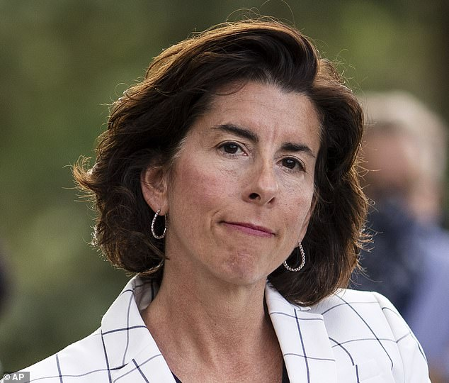 Cuomo's order also comes after he threatened legal action that persuaded Gov. Gina Raimond of Rhode Island (pictured) to reverse her decision on a similar quarantine of New Yorkers entering her state earlier during the pandemic