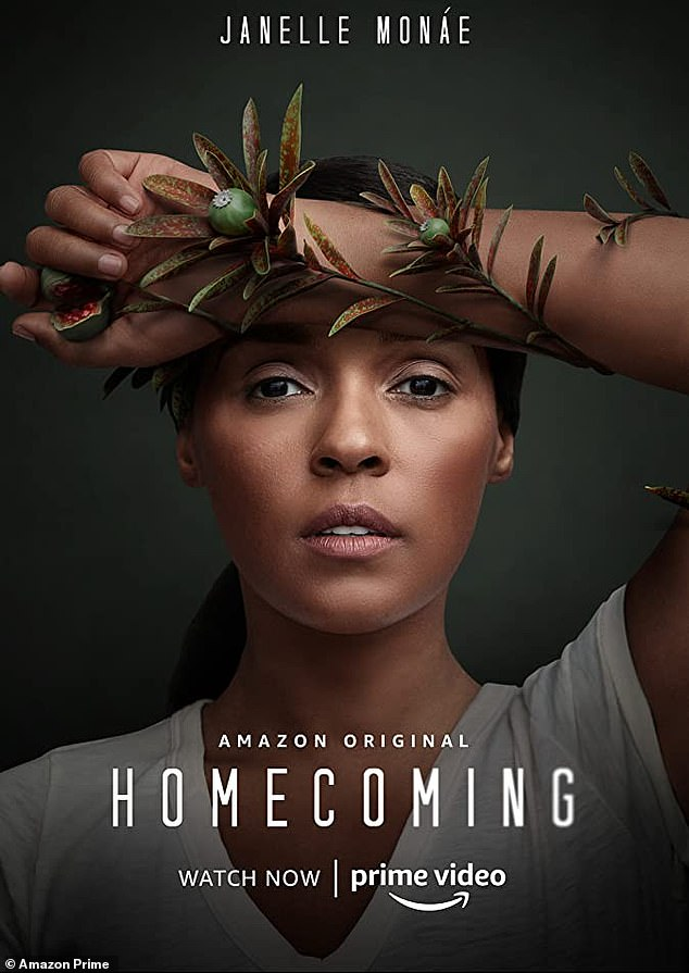 Whirlwind: 'But, also, this past year, I filmed Antebellum, I went on tour and then I started Homecoming (pictured), so I didn't have a break mentally,' said Janelle