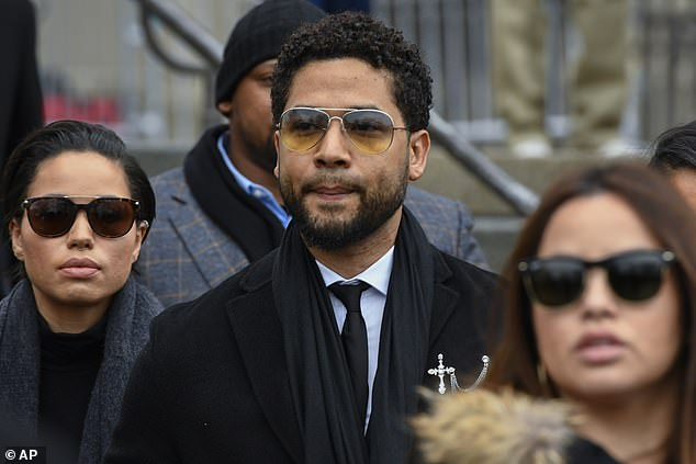 Ola and Abel Osundario had agreed to testify against Jussie Smollett (pictured) after police accused him of staging a homophobic attack in January 2019