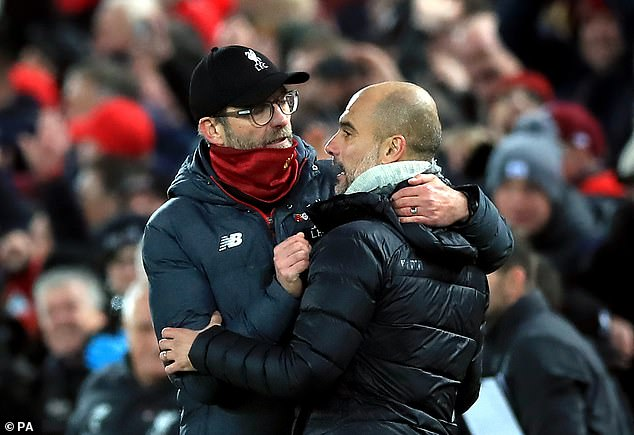 Klopp was glowing in his praise of the side of the town of Guardiola despite escaping with the title