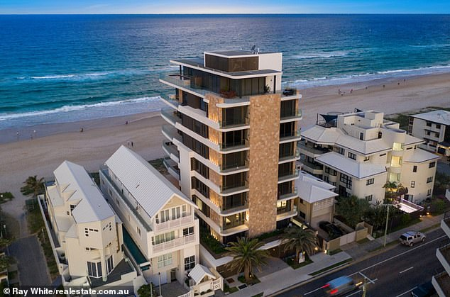 Mr Meij, who earns more than 435 times the average Australian salary has reportedly forked out $5.35million for a full-floor apartment on the Gold Coast