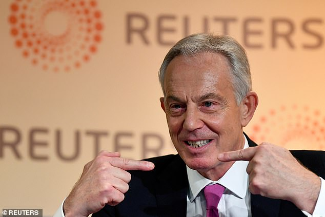 Tony Blair (file picture) warned on a new 'Cold War' with China today as polling showed Britons blame Beijing more than Boris Johnson for coronavirus chaos