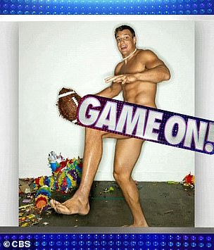 Photo shoots: Gronk and Venus were shown displaying their figures for ESPN