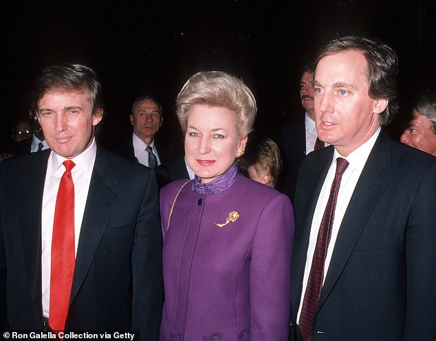 Fred said he and his family 'have a strong relationship with our extended family and have had no involvement or interest in the preparation of this book'. Mary and her brother Fred III filed suit against Donald and Robert Trump and their sister Maryanne Trump Barry (pictured together in 1990) in 2000, for wrongful termination of medical benefits and coverage