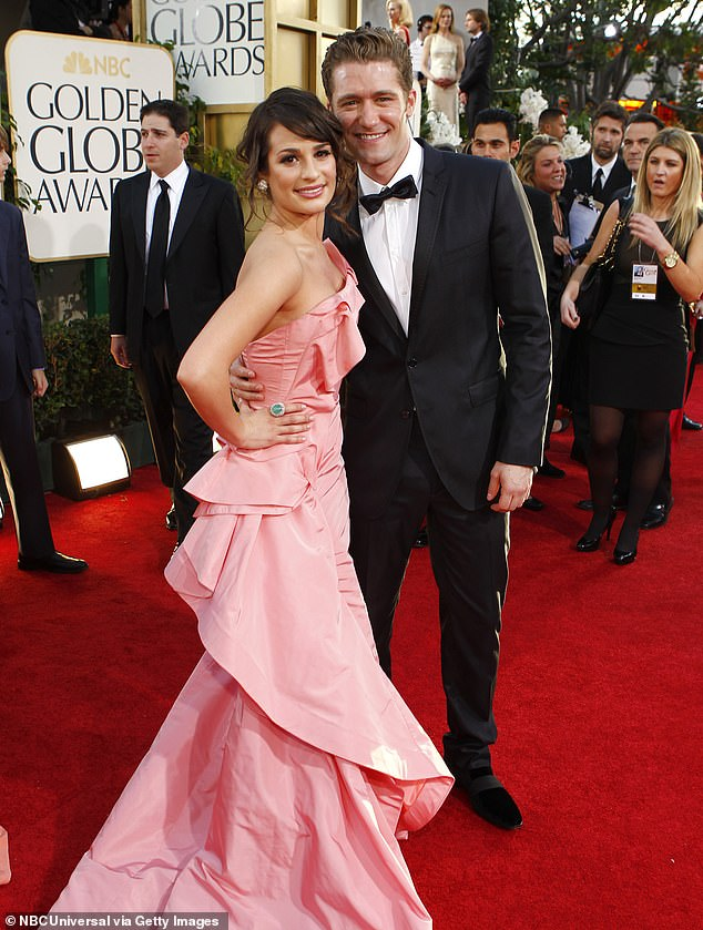 Tight-lipped: Matthew Morrison, 41, appeared reluctant to comment on the allegations of bullying behavior surrounding his Glee co-star Lea Michele, 33, on Wednesday. The co-stars seen here in 2011