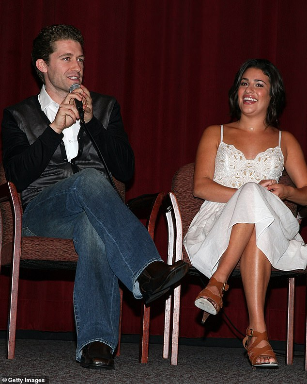 Squirm: 'You want to be a good, pleasant person to be around,' the father-of-one stated diplomatically. Seen here with Lea in 2009